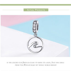 Sterling Silver Geometric Wave Charm - SHOPPLEHUB