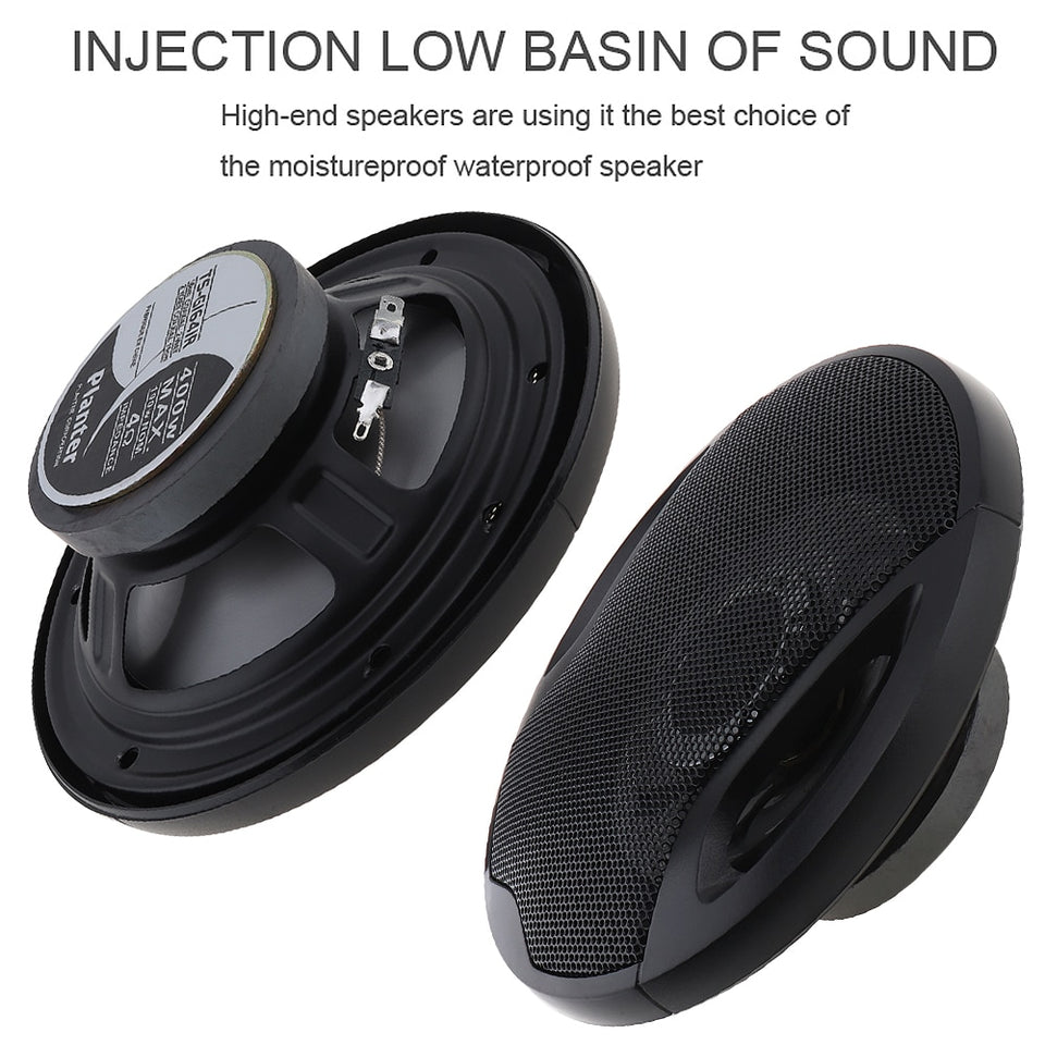 "2pcs 6.5"" 400W Car HiFi Coaxial Full Range Frequency Speakers - SHOPPLEHUB"