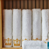 Embroidered Imperial Crown Towels - SHOPPLEHUB