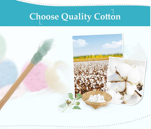 200pcs/Box Bamboo Cotton Swab - SHOPPLEHUB