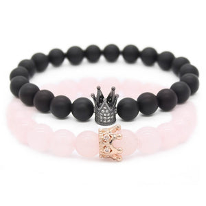 CROWN STACKED COUPLE BRACELET - SHOPPLEHUB
