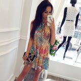 Ocean Print Beach Dress - SHOPPLEHUB