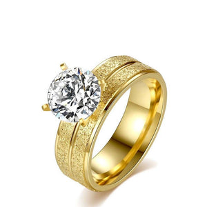 GOLD STAINLESS STEEL RING - SHOPPLEHUB