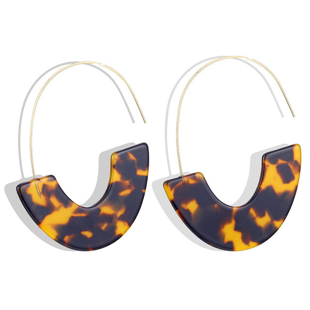 Flirty Geometric Resin Drop Earrings - SHOPPLEHUB