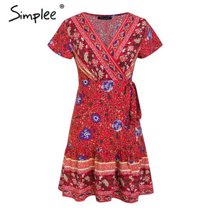 Bohemian Floral Summer Dress - SHOPPLEHUB