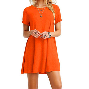 O-Neck Casual Dress - SHOPPLEHUB