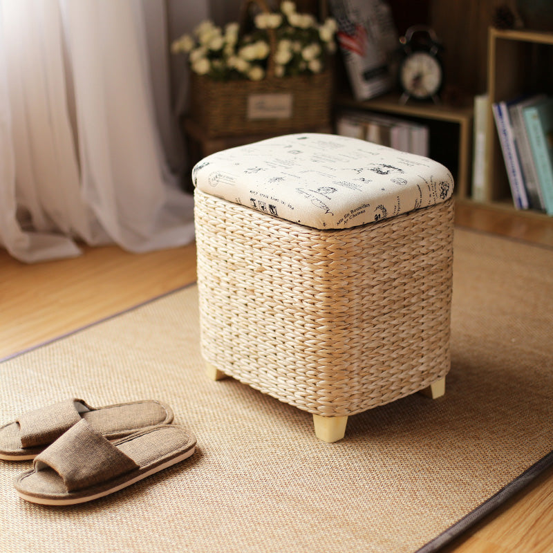 Storage Wicker Ottoman - SHOPPLEHUB