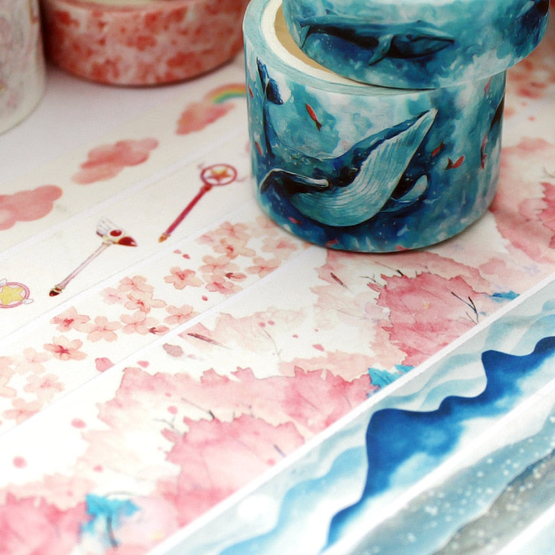 3pcs Ocean Themed Washi Tapes - SHOPPLEHUB