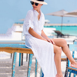 Women Kaftan Beach Tunic Dress - SHOPPLEHUB