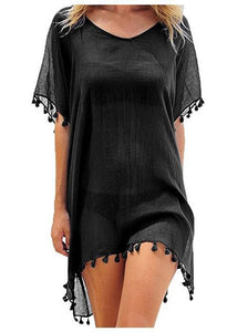 One Size Women's Tassel Beach Cover Ups - SHOPPLEHUB