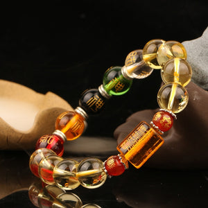 The Five Elements Beaded Mantra Bracelet