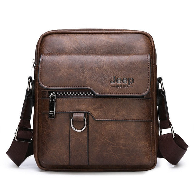 JEEP BULUO Leather Messenger Bag - SHOPPLEHUB