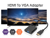 High Quality HDMI to VGA Adapter Converter 1080P Digital to Analog Video Audio For PC Laptop Tablet - SHOPPLEHUB