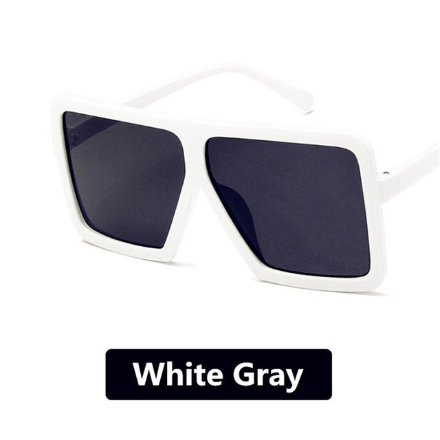 Square Oversized Sunglasses - SHOPPLEHUB