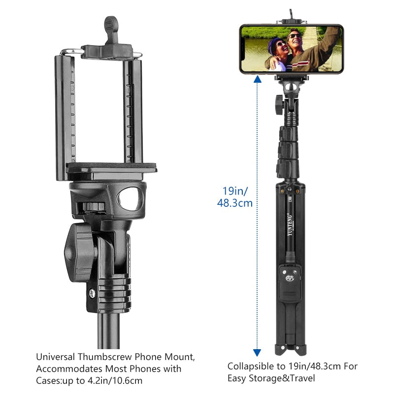 Tripod+Selfie Stick With Wireless Bluetooth Remote Control - SHOPPLEHUB