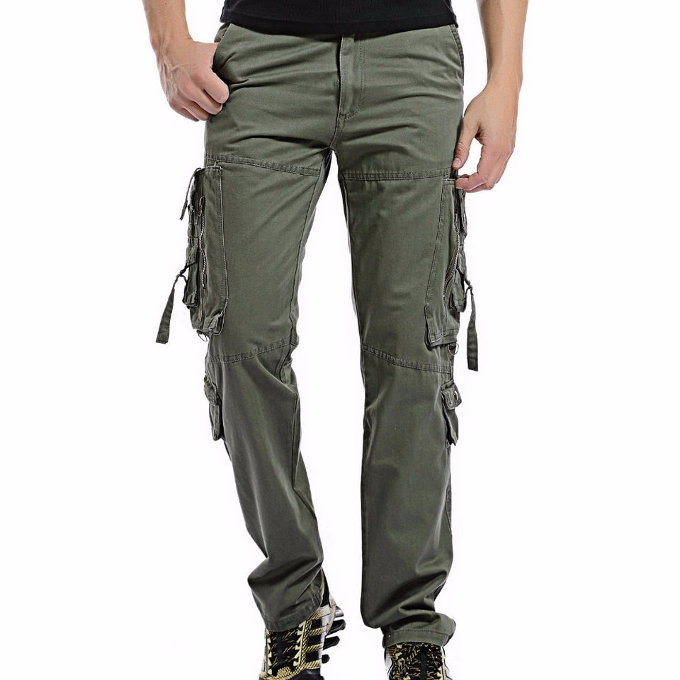 Casual Multi-Pocket Army Pants - SHOPPLEHUB