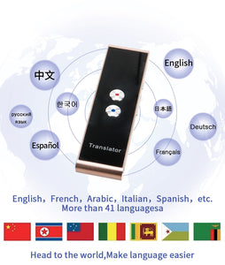 Portable Multi Language Two-Way Bluetooth Translator - SHOPPLEHUB