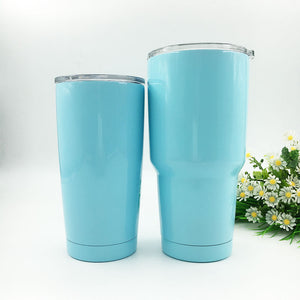 Pastel Blue Stainless Steel Vacuum Insulated Cups - SHOPPLEHUB