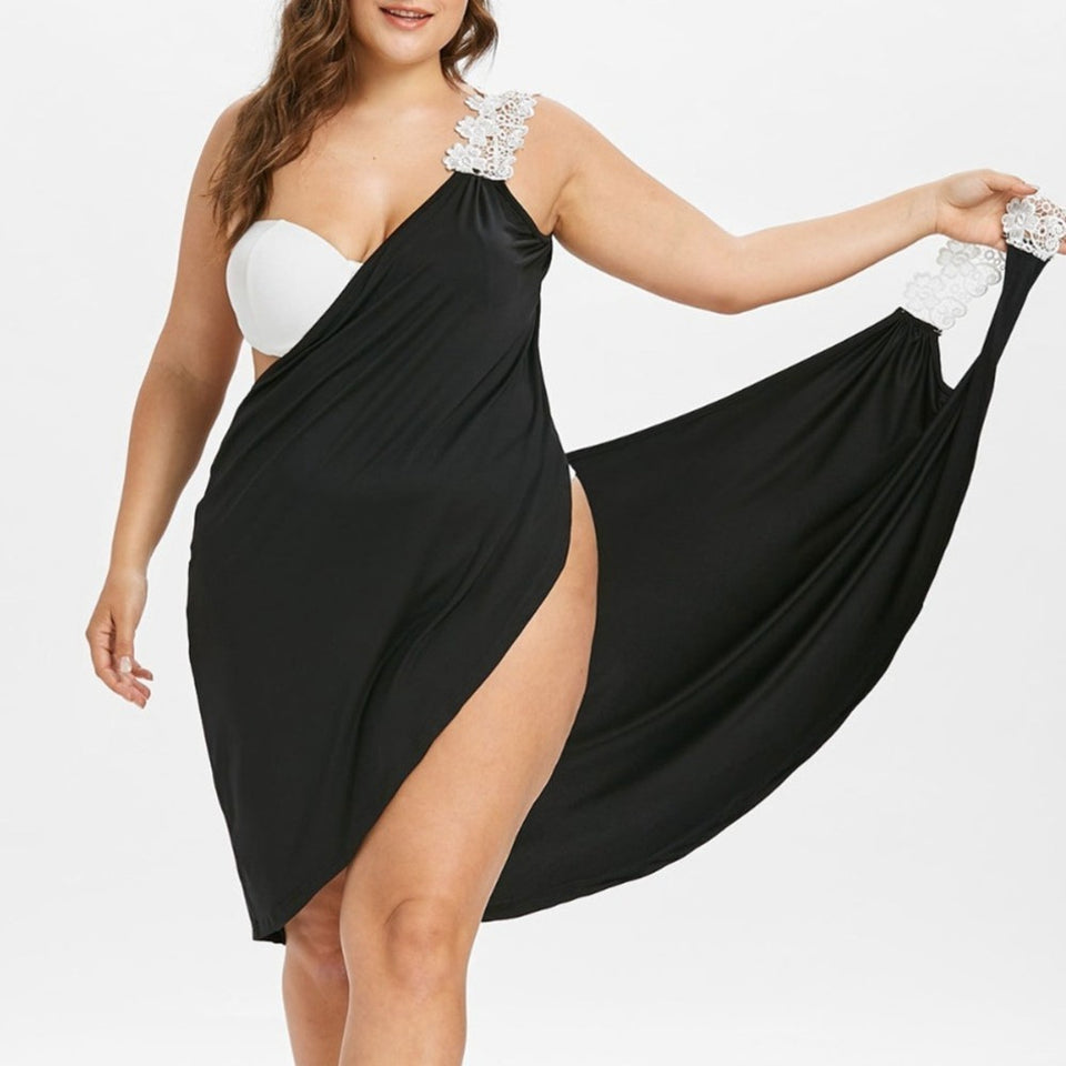 Plus Size Women's Beach Dress - SHOPPLEHUB