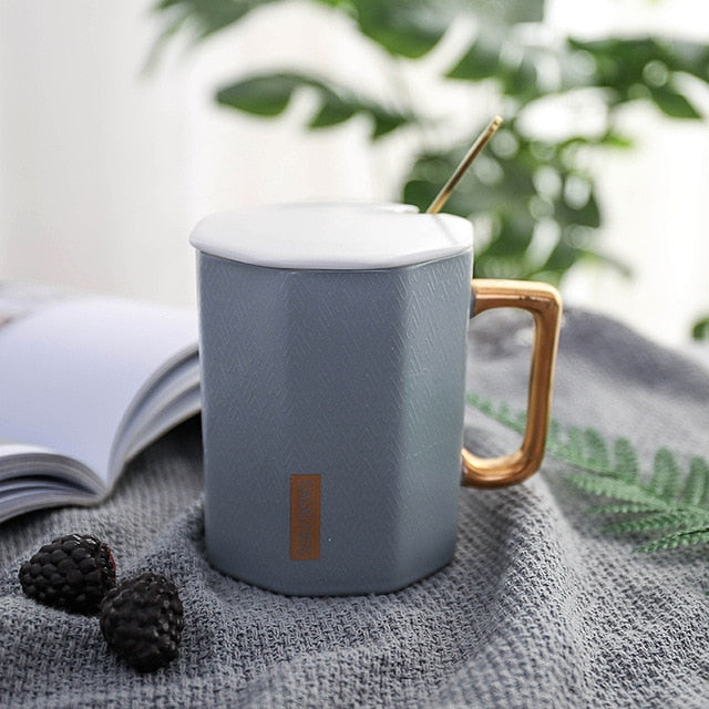 Polygon Ceramic Coffee Mug - SHOPPLEHUB