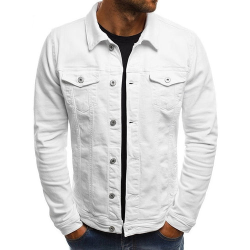 Men's Slim Fit Jeans Jacket - SHOPPLEHUB