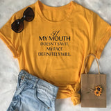 Quote Printed Graphic Tee - SHOPPLEHUB