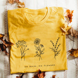 No Rain No Flower Graphic Tee - SHOPPLEHUB