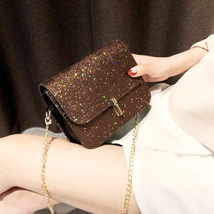 Glitter Sequin Mini Chain Shoulder Bag - SHOPPLEHUB