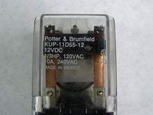 Load image into Gallery viewer, TE CONNECTIVITY/POTTER & BRUMFIELD KUP-11D55-12 POWER RELAY, DPDT, 12VDC, 10A, BRACKET