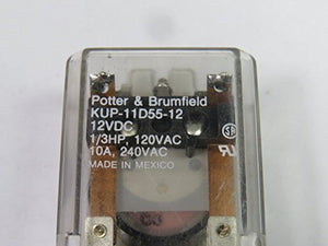 TE CONNECTIVITY/POTTER & BRUMFIELD KUP-11D55-12 POWER RELAY, DPDT, 12VDC, 10A, BRACKET