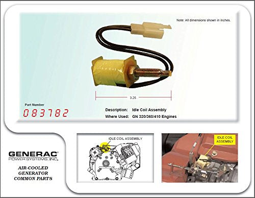 Generac Assy Coil Idle CNT Part# 083782 By Universal Generator Parts
