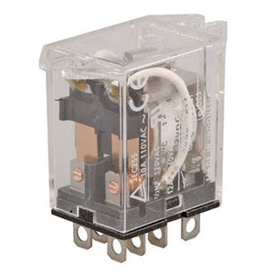 Omron Electroni LY2F-DC12 Electromechanical Relay, Double Pole, Double Throw, 10 Amp, 12V, 160 Ohm Flange Mount