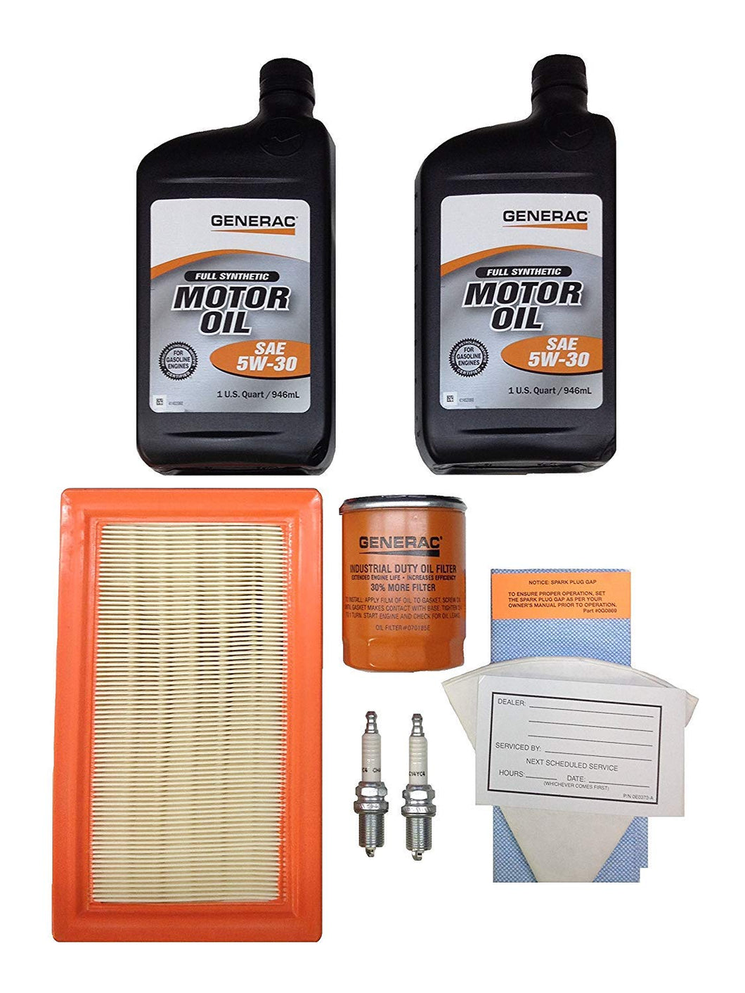 Generac 0J93220SSM Maintenance Kit w/ 5W-30 Synthetic Oil