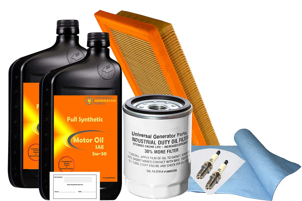 UGP Universal Generator Parts Replacement for Generac 0J93230SSM 20Kw-22Kw SM 999 Maintenance Kit (Synthetic Oil)