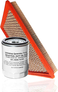 Universal Generator Parts Replacement Generac 0E9371AS & 070185E&ES (Filter&Oil)