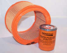 Load image into Gallery viewer, Generac Air Filter 0G5894 and Generac/Uninversal Generator Parts Replacement Oil Filter Sets for 070185B, 070185D, 070185E and 070185ES (Air and Oil (Generac Replacement for 070185E))