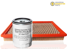 Load image into Gallery viewer, Generac Air Filter HSB 0E9371AS and UGP Oil Filter replacment for Generac 070185E