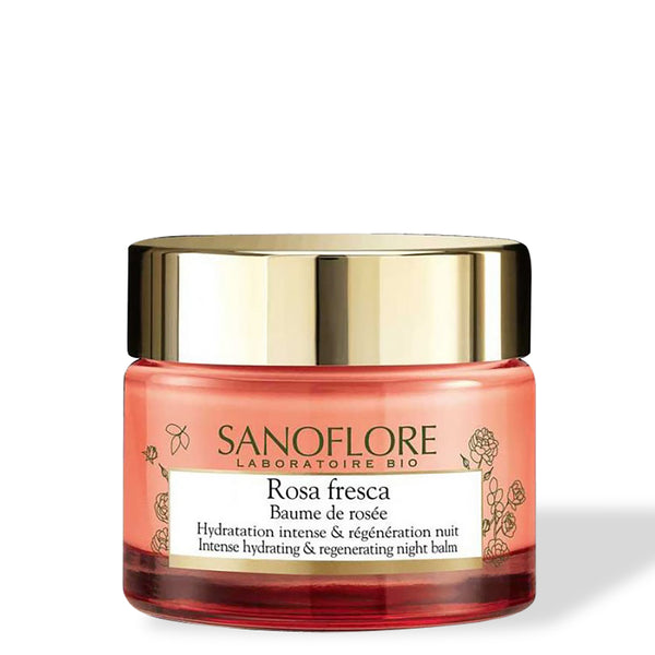 Sanoflore Rosa Fresca Baume De Rosee Intense Hydrating And Regenerating Night Balm