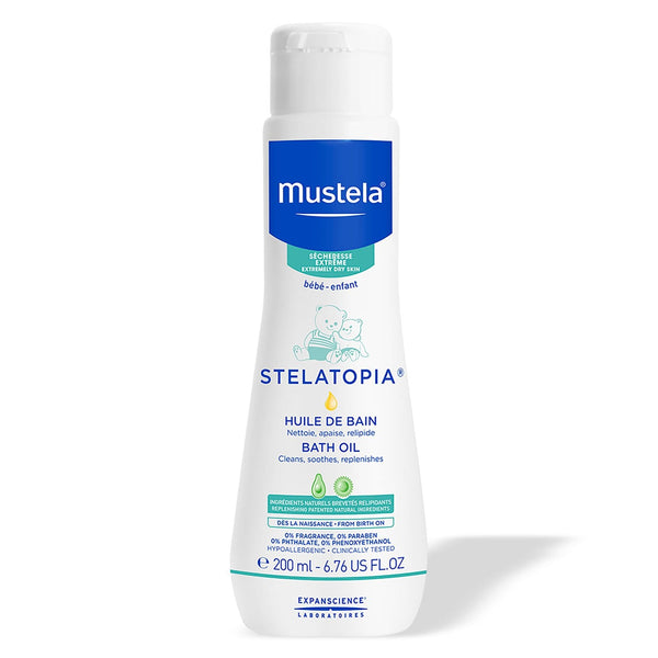 Mustela Stelatopia Bath Oil for Eczema-Prone Skin