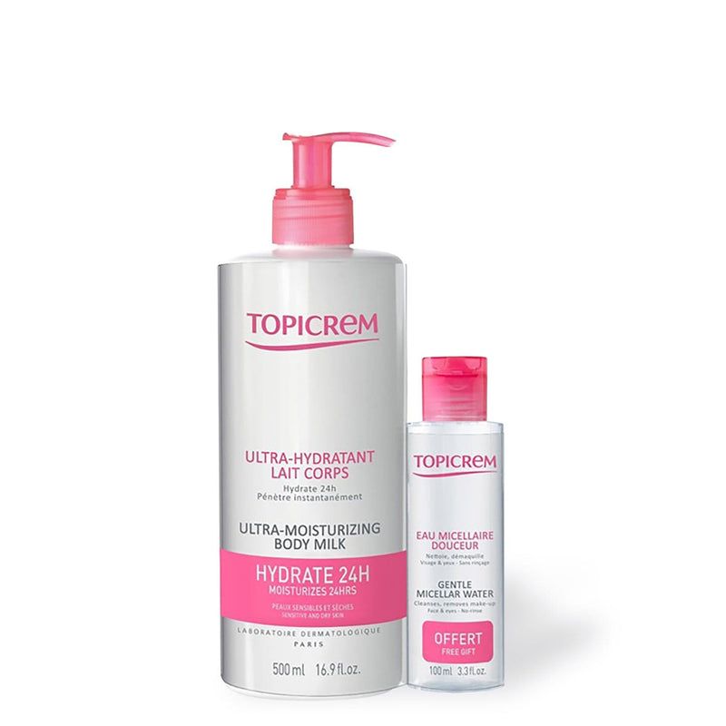 Topicrem Ultra Moisturizing Body Milk + Gentle Micellar Water
