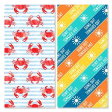 Load image into Gallery viewer, *PRE-ORDER* Crabby Summer - Pre-Designed Full Reversible Bandana