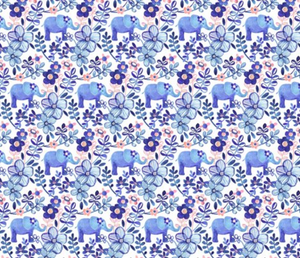 Elephants on Parade inspired by Finn - Bandana Half (Must Purchase Any Two Patterns)