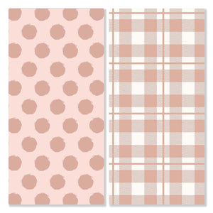 Pinka Dot Plaid - Pre-Designed Full Reversible Bandana