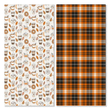 Load image into Gallery viewer, Plaidful Pumpkin inspired by Totcho - Pre-Designed Full Reversible Bandana