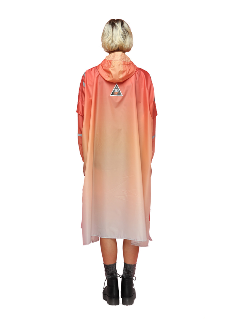 """California Sunrise"" Eco-Friendly Rain Poncho - 365Dry"