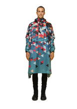 "Load image into Gallery viewer, ""Double Dutch"" Eco-Friendly Rain Poncho - 365Dry"