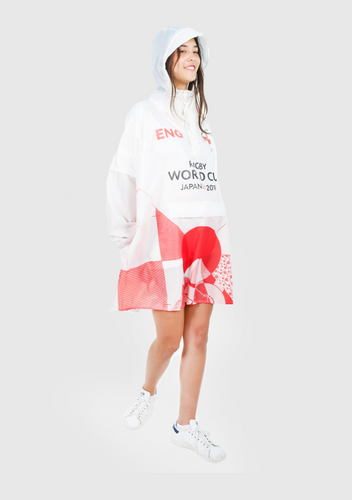 England Official Rugby World Cup 2019 Eco-Friendly Unisex Rain Poncho - 365Dry