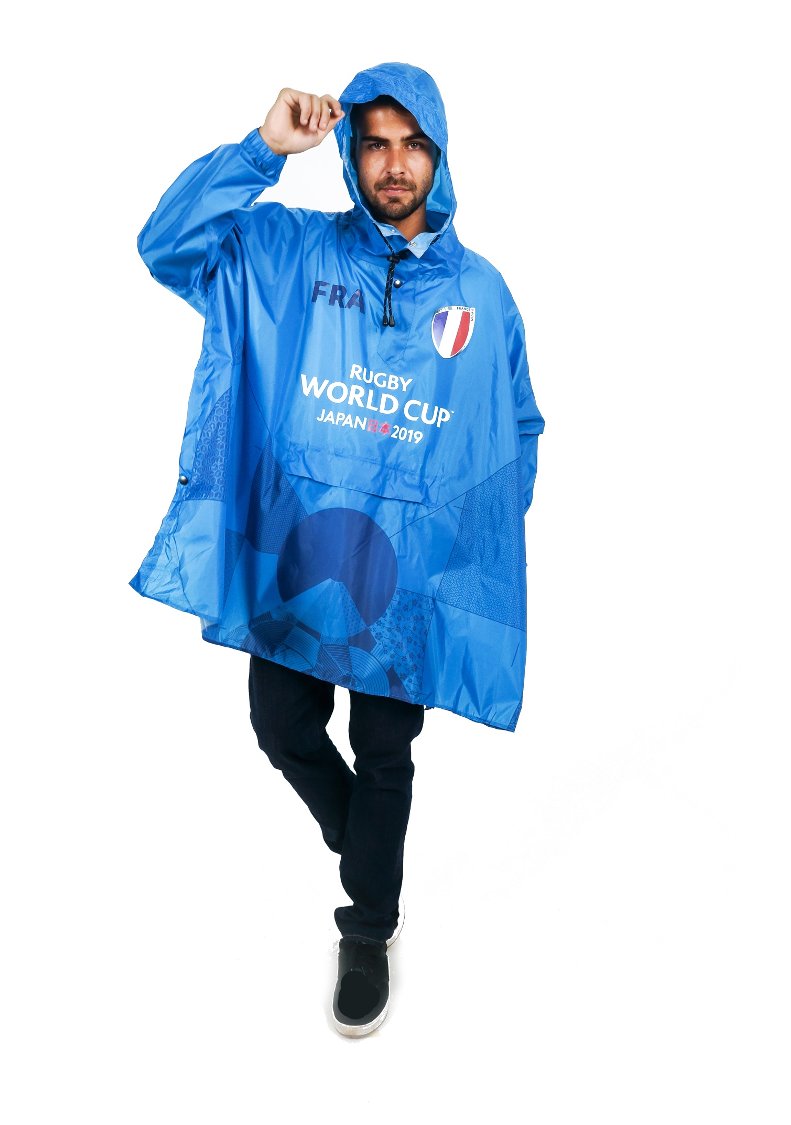 France Official Rugby World Cup 2019 Eco-Friendly Unisex Rain Poncho - 365Dry