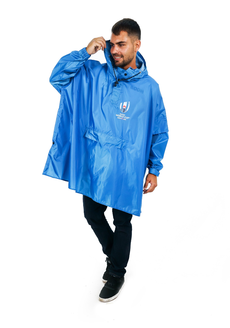 Official Rugby World Cup 2019 Eco-Friendly Unisex Rain Poncho - 365Dry