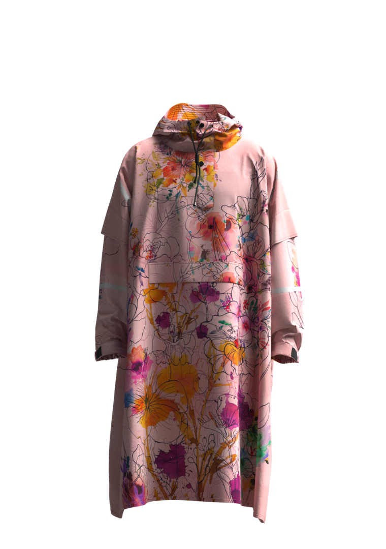 """In Bloom"" Eco-Friendly Rain Poncho"